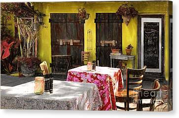 Vintage Canvas Print - Pia's Cafe  by Liane Wright