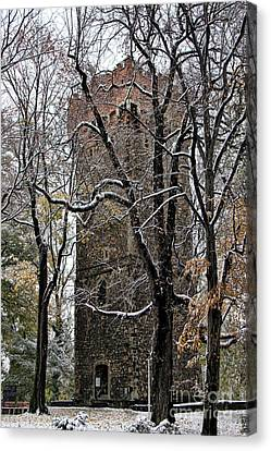 Piastowska Tower In Cieszyn Canvas Print by Mariola Bitner