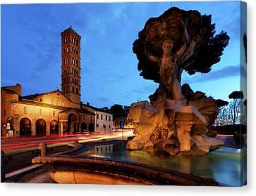Piazza Della Bocca Della Verita' Canvas Print