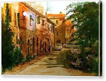 Piazza Della Giada Canvas Print