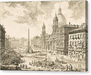Capital Canvas Print - Piazza Navona by Giovanni Battista Piranesi