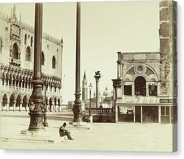 San Marco Canvas Print - Piazza San Marco Italy, Attributed To Carlo Naya by Artokoloro