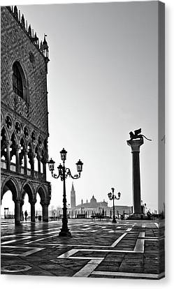 St. Mark Canvas Print - Piazza San Marco by Marion Galt