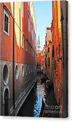 City Of Bridges Canvas Print - Piazza San Marco by Phillip Allen