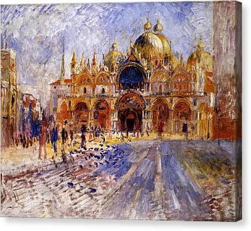 Canvas Print - Piazza San Marco by Pierre Auguste  Renoir