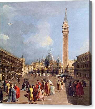 Piazza San Marco, Venice Canvas Print by Francesco Guardi
