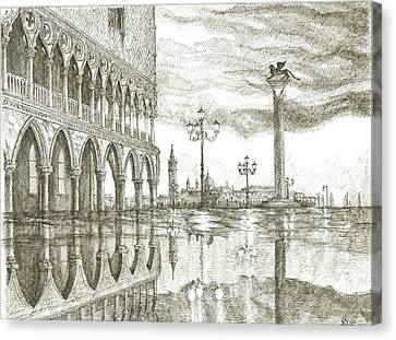 Piazza San Marco Venice Canvas Print by Katerina Izotova