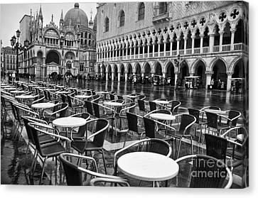 Piazza San Marco Venice Canvas Print by Design Remix