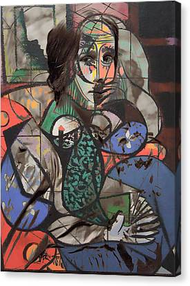Picasso And Me  Canvas Print by Empty Wall
