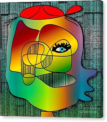 Picasso Inspired Cartoon Canvas Print by Iris Gelbart