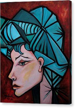 Canvas Print featuring the painting Picassogirl by Yolanda Rodriguez
