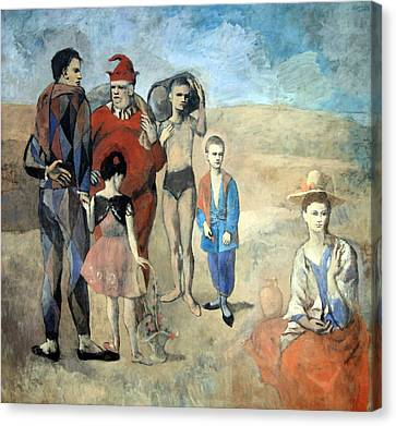 Picasso's Family Of Saltimbanques Canvas Print by Cora Wandel