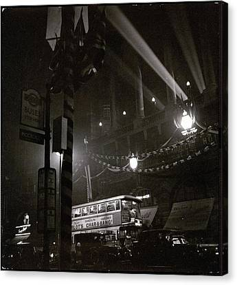Piccadilly Circus Canvas Print by Roger Schall