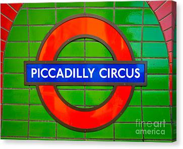 Canvas Print featuring the photograph Piccadilly Circus Tube Station by Luciano Mortula