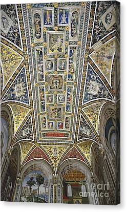 Piccolomini Library Of  Siena Duomo Canvas Print by Sami Sarkis
