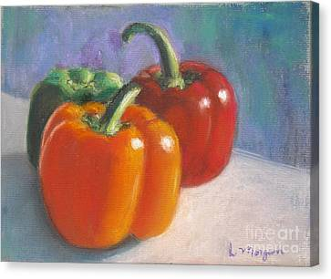 Pick A Pepper Canvas Print by Laurie Morgan