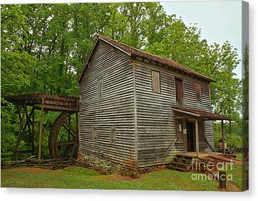 Old Mills Canvas Print - Pickens County Grist Mill by Adam Jewell