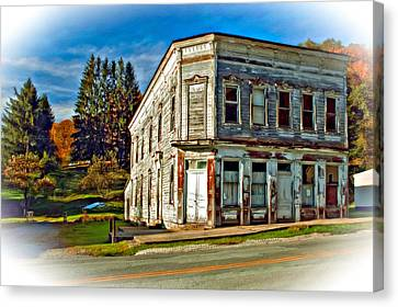 Pickens Wv Painted Canvas Print by Steve Harrington