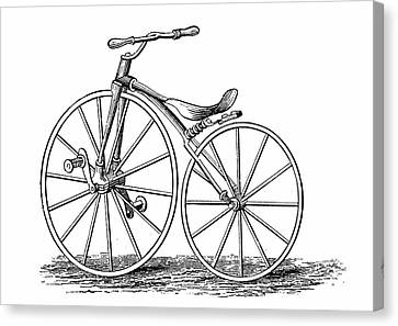 Pickering's Crank-pedal Driven Bicycle Canvas Print