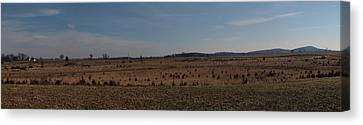 Picketts Charge From Seminary Ridge Canvas Print by Joshua House
