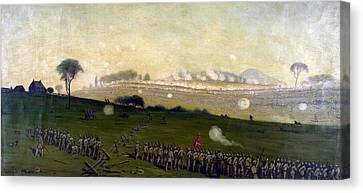 Picketts Charge On Union Center 3pm Canvas Print