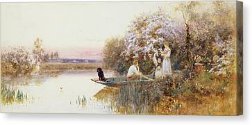 Picking Blossoms Canvas Print by Thomas James Lloyd