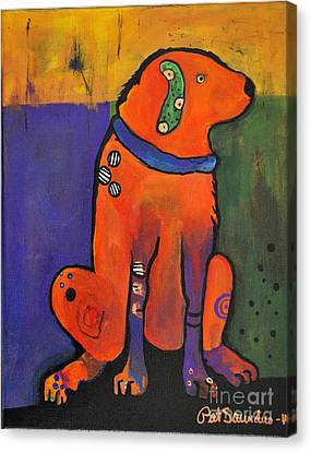 Pickle Dog Canvas Print by Pat Saunders-White