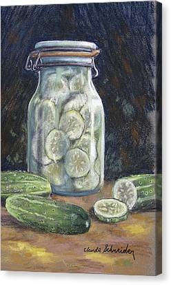 Pickled Cucumbers Canvas Print by Claude Schneider
