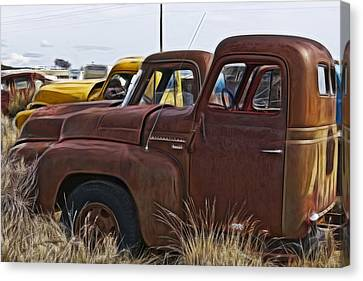 Pickup Cabs 2 Canvas Print