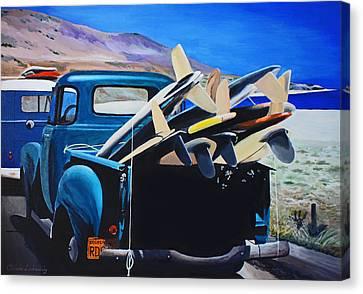 Pickup Truck Canvas Print by Chikako Hashimoto Lichnowsky