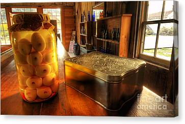 Bannack Montana Canvas Print - Pickled Eggs Past Due Date by Bob Christopher