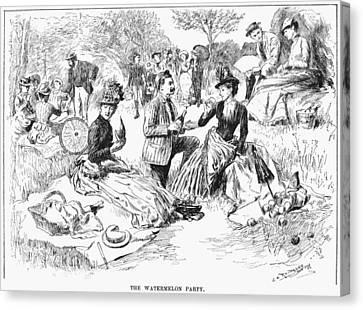 Picnic, 1886 Canvas Print by Granger