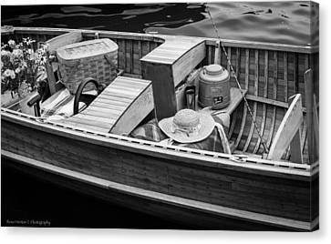 Canvas Print featuring the photograph Picnic Boat by Ross Henton