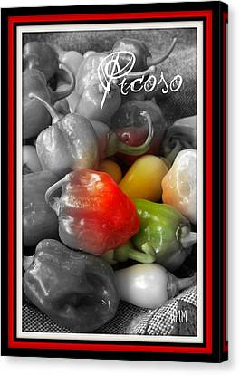 Picoso Peppers Canvas Print