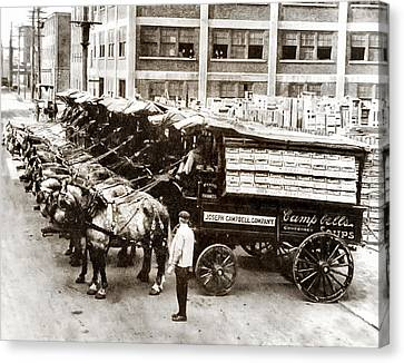 Picture 11 - New - Campbells Soup Wagons Canvas Print