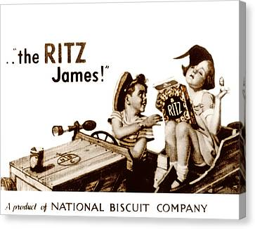 Picture 17- New- The Ritz James Canvas Print
