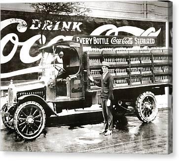Picture 7 - New - Coca Cola Delivery Truck Canvas Print
