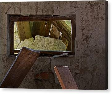 Woodpile Canvas Print - Picture At An Exhibition by Odd Jeppesen