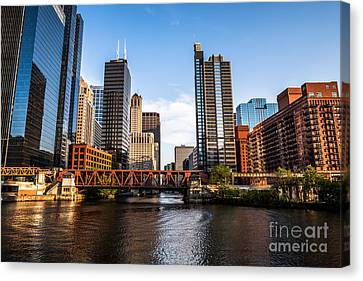 Picture Of Downtown Chicago Loop Buildings Canvas Print by Paul Velgos