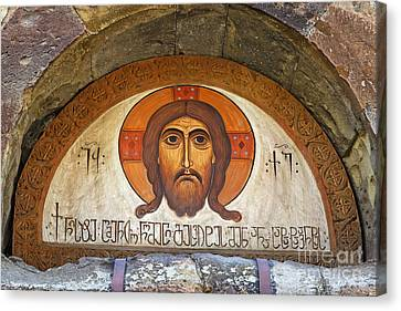 Picture Of Jesus Inside The Tsminda Sameba Cathedral Tbilisi Canvas Print by Robert Preston