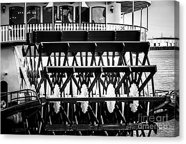 Picture Of Natchez Steamboat Paddle Wheel In New Orleans Canvas Print by Paul Velgos