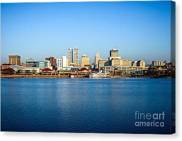 Picture Of Peoria Illinois Skyline Canvas Print by Paul Velgos