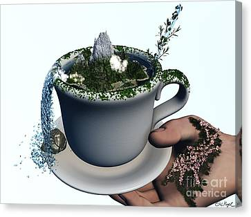 Piece Of Nature Cup Canvas Print by Eric Nagel