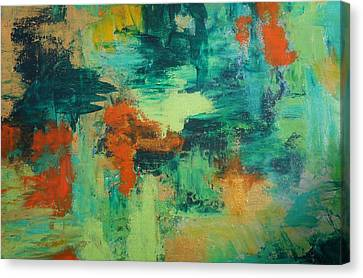 Canvas Print featuring the painting Pieces by Kristine Bogdanovich