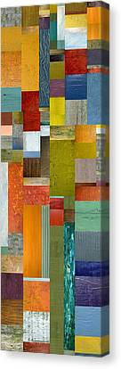 Pieces Parts Lll Canvas Print by Michelle Calkins