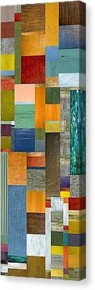 Pieces Parts V Canvas Print by Michelle Calkins