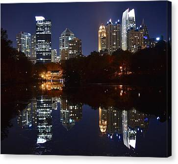 Looking To The Heavens Canvas Print - Piedmont Park Atlanta by Frozen in Time Fine Art Photography