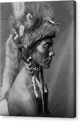 Piegan Indian Circa 1910 Canvas Print by Aged Pixel