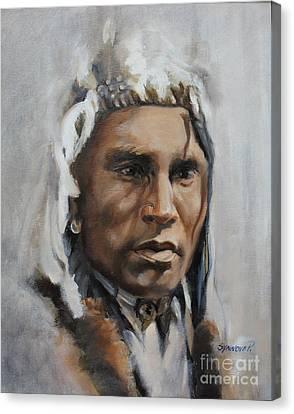Piegan Warrior Portrait Canvas Print