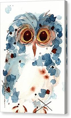 Pier 1 Owl Canvas Print by Dawn Derman